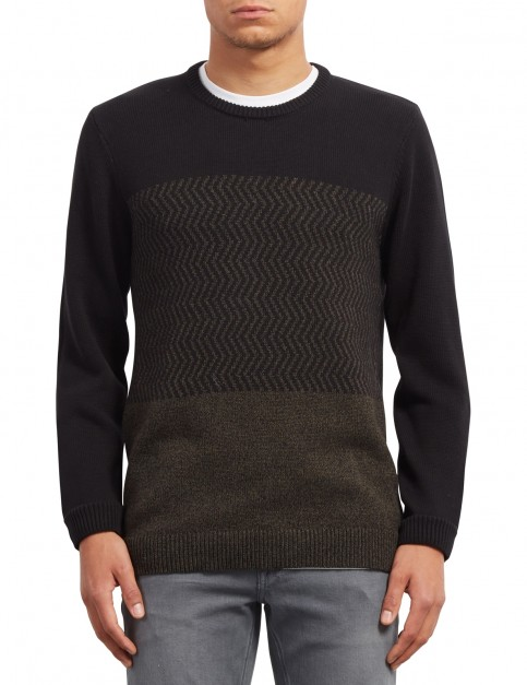 Volcom Bario Crew Update Jumper in Black