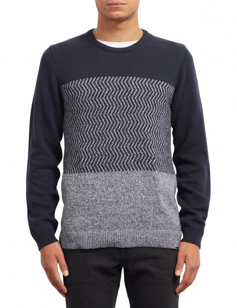 Volcom Bario Crew Update Jumper in Navy