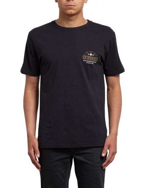 Volcom Barred Short Sleeve T-Shirt in Black
