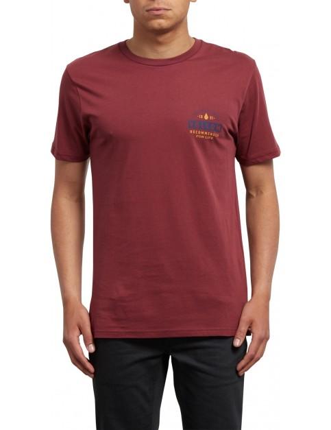 Volcom Barred Short Sleeve T-Shirt in Crimson