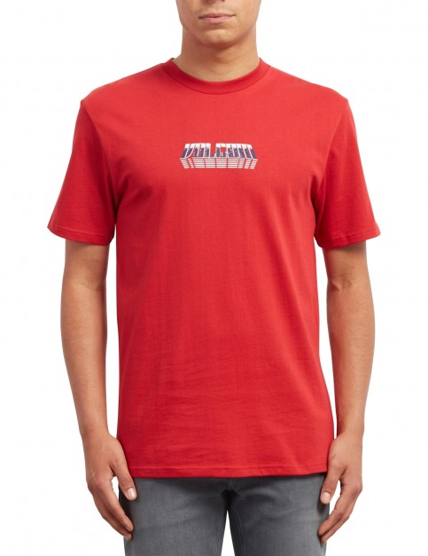 Volcom Black Hole Short Sleeve T-Shirt in Engine Red
