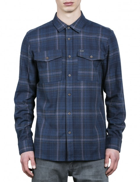 Volcom Bodhi Long Sleeve Shirt in Indigo