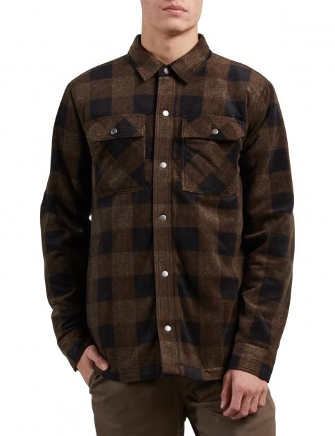 Volcom Bowerlar Fleece Long Sleeve Shirt in Old Gold