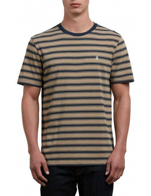 Volcom Briggs Crew Short Sleeve Shirt in Sand Brown