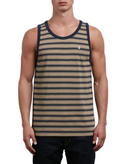 Volcom Briggs Sleeveless T-Shirt in Sand Brown
