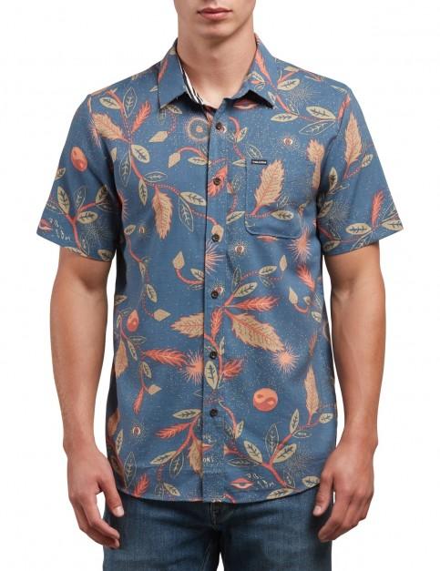 Volcom Broha Short Sleeve Shirt in Deep Blue