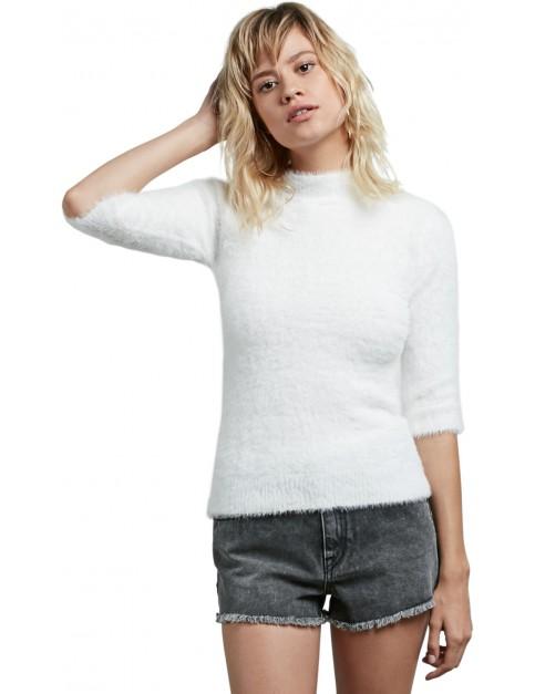 Volcom Bunney Riot Sweatshirt in Star White