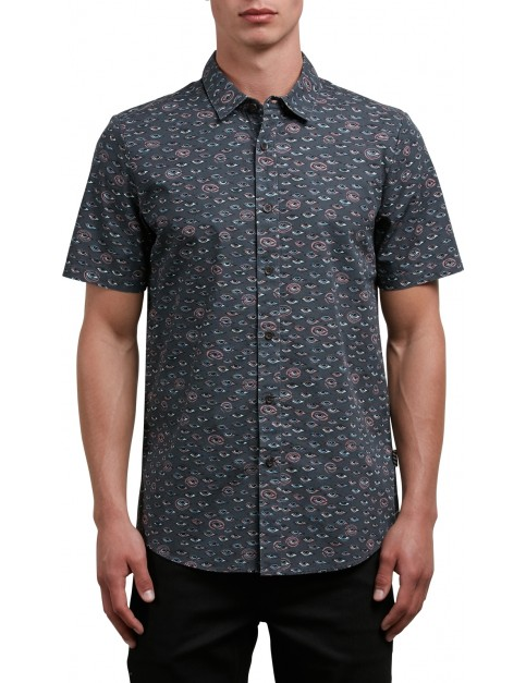 Volcom Burch Short Sleeve Shirt in Stealth