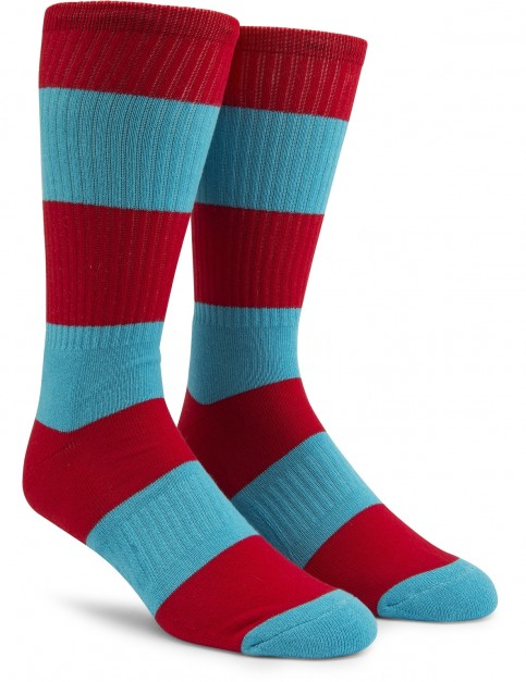 Volcom Burger X Vlcm Crew Socks in True Red