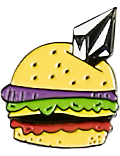 Volcom Burger X Vlcm Enamel Pin Fun Stuff in Multi