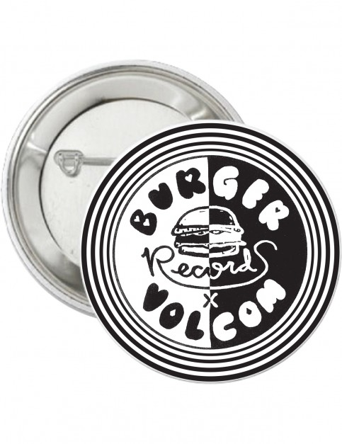 Volcom Burger X Vlcm Pin Fun Stuff in Black