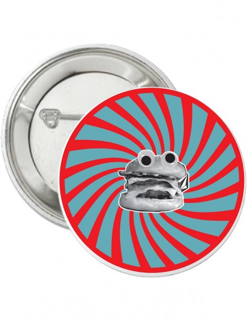 Volcom Burger X Vlcm Pin Fun Stuff in True Red