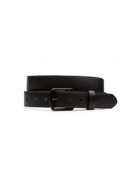 Volcom Burro Leather Belt in Black
