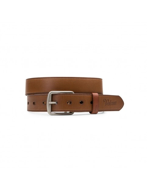 Volcom Burro Leather Belt in Brown