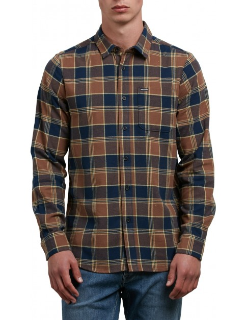 Volcom Caden Long Sleeve Shirt in Indigo