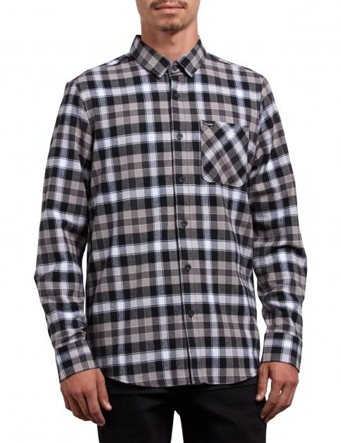 Volcom Caden Plaid Long Sleeve Shirt in Black