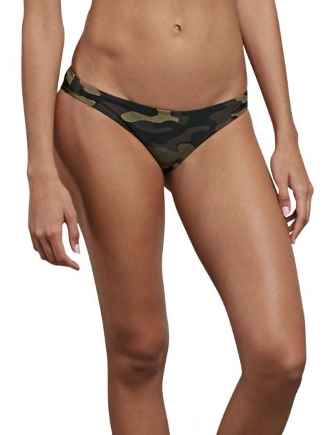 Volcom Cant Sea Me Hipster Bikini in Dark Camo