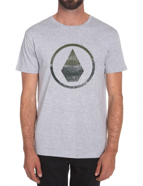 Heather Grey Volcom Canvas Stone Short Sleeve T-Shirt
