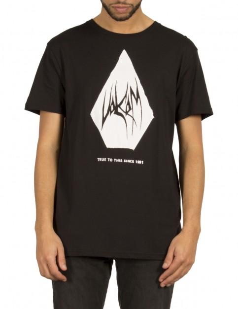 Volcom Carving Block Short Sleeve T-Shirt in Black