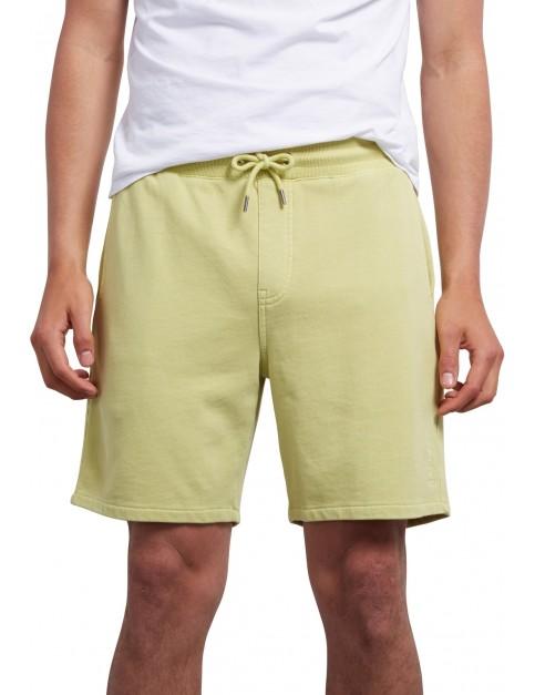 Volcom Case Fleece Shorts in Shadow Lime