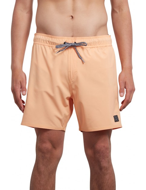 Volcom Case Stoney 16 Mid Length Boardshorts in Summer Orange
