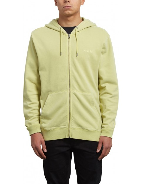 Volcom Case Zipped Hoody in Shadow Lime