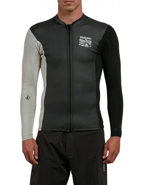 Volcom Chesticle Jacket Wetsuit in Black/White