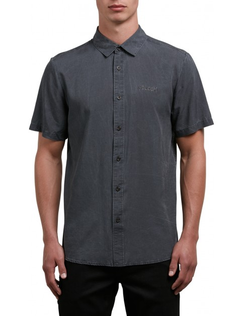 Volcom Chill Out Short Sleeve Shirt in Black