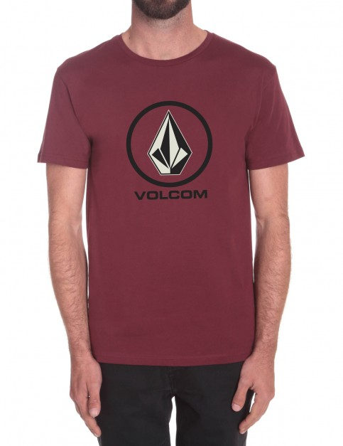 Merlot Volcom Circle Stone Short Sleeve T-Shirt