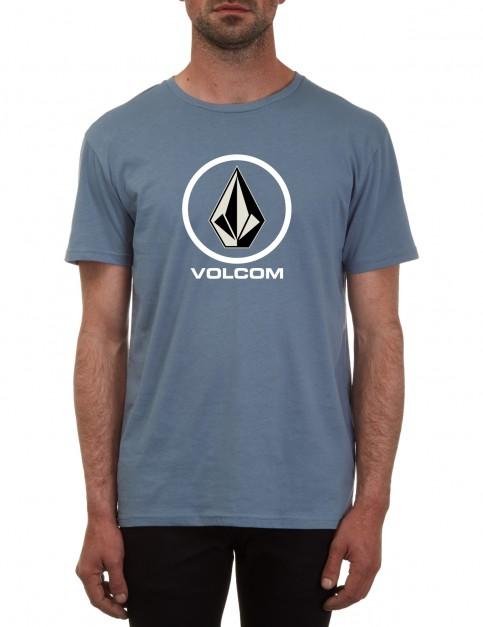 Volcom Circle Stone Short Sleeve T-Shirt in Ash Blue