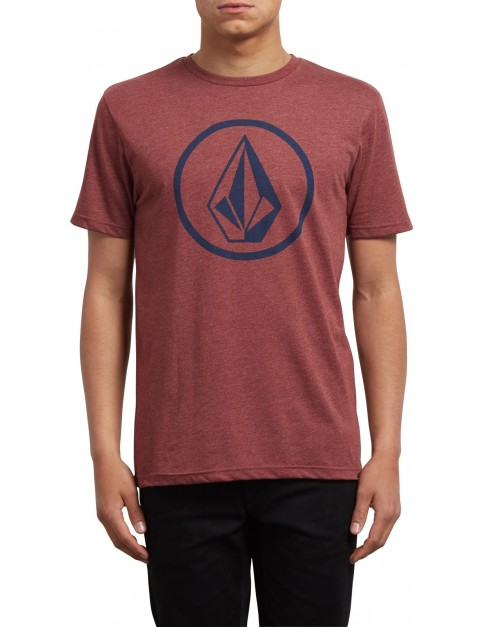 Volcom Circle Stone Short Sleeve T-Shirt in Crimson