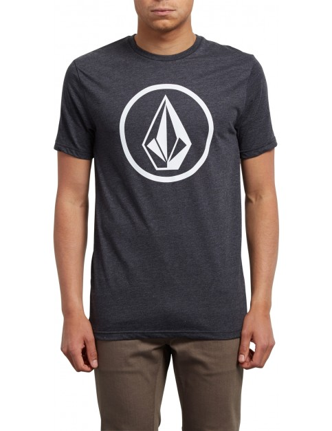 Volcom Circle Stone Short Sleeve T-Shirt in Heather Black