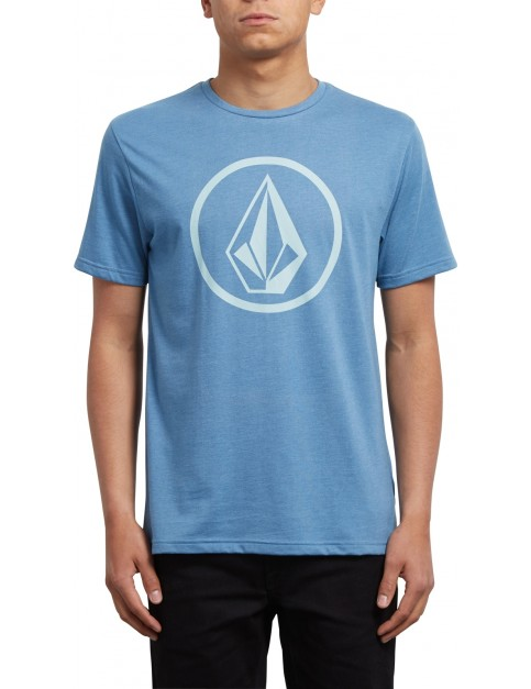 Volcom Circle Stone Short Sleeve T-Shirt in Wrecked Indigo
