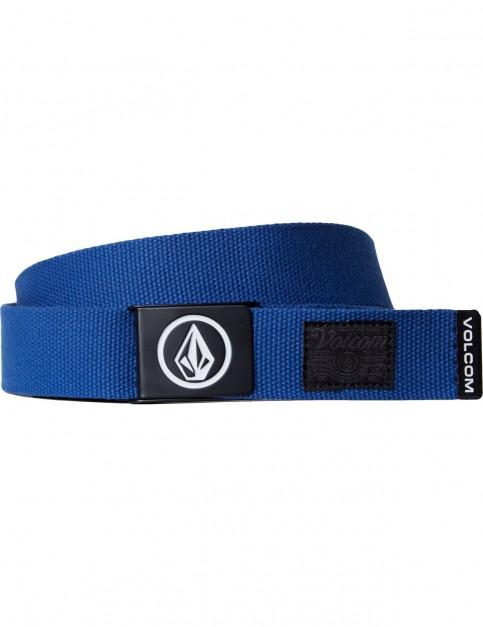 Volcom Circle Web Webbing Belt in Camper Blue