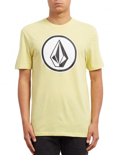 Volcom Classic Stone Short Sleeve T-Shirt in Acid Yellow