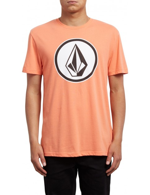 Volcom Classic Stone Short Sleeve T-Shirt in Salmon