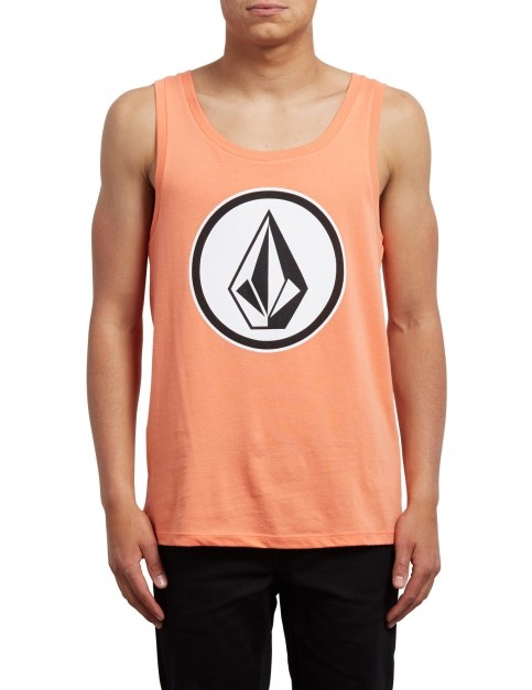 Volcom Classic Stone Sleeveless T-Shirt in Salmon