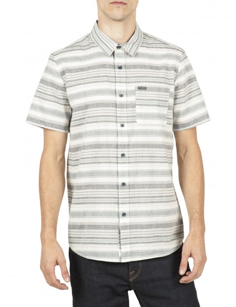Volcom Clockwork Short Sleeve Shirt in Sandstorm