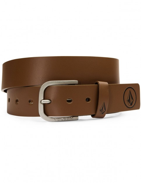 Brown Volcom Clone Faux Leather Belt