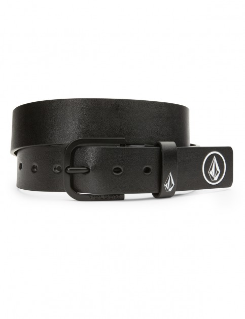 Volcom Clone Faux Leather Belt in Black