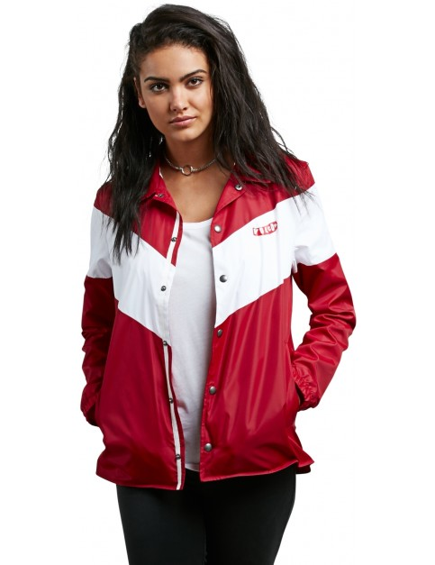 Volcom Coach Away Jacket in Chili Red
