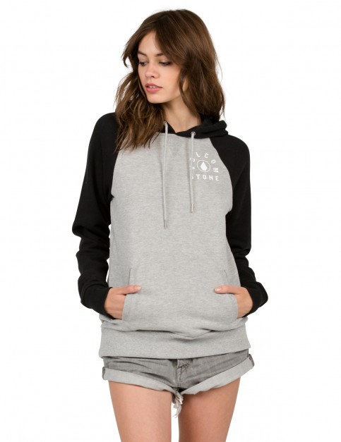 Volcom Commin Back Pullover Hoody in Heather Grey