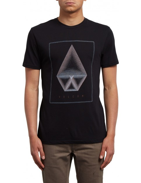 Volcom Concentric Short Sleeve T-Shirt in Black
