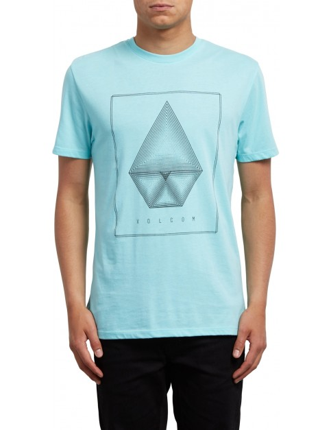 Volcom Concentric Short Sleeve T-Shirt in Pale Aqua