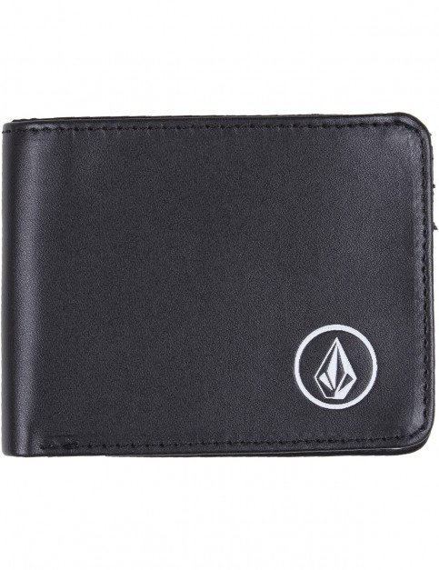 Volcom Corps Faux Leather Wallet in Black