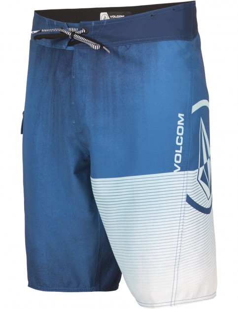 Volcom Costa Stone Mid Length Boardshorts in Deep Water