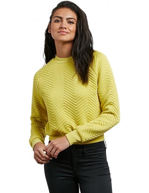 Volcom Cozy Dayz Crew Neck Sweatshirt in Citron