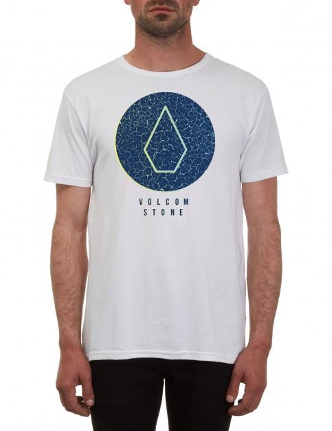 Volcom Cracked Short Sleeve T-Shirt in White