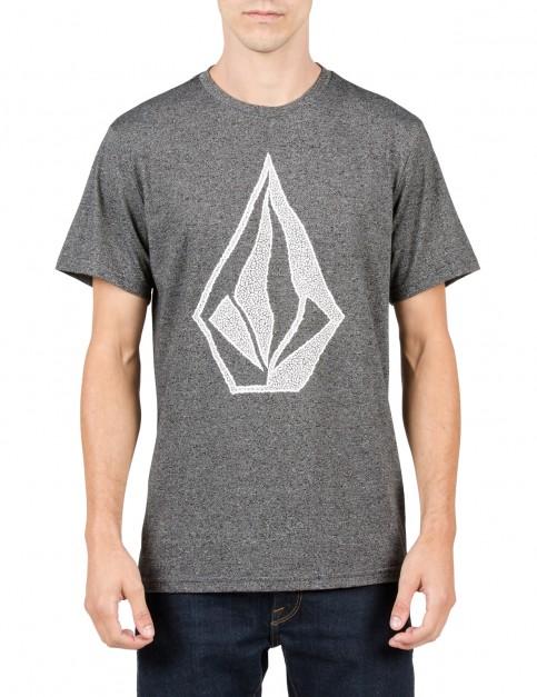 Volcom Creep Stone Short Sleeve T-Shirt in Heather Black