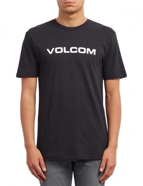Volcom Crisp Euro Short Sleeve T-Shirt in Black